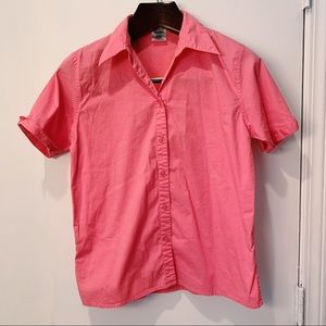 Pink Button Down Tee